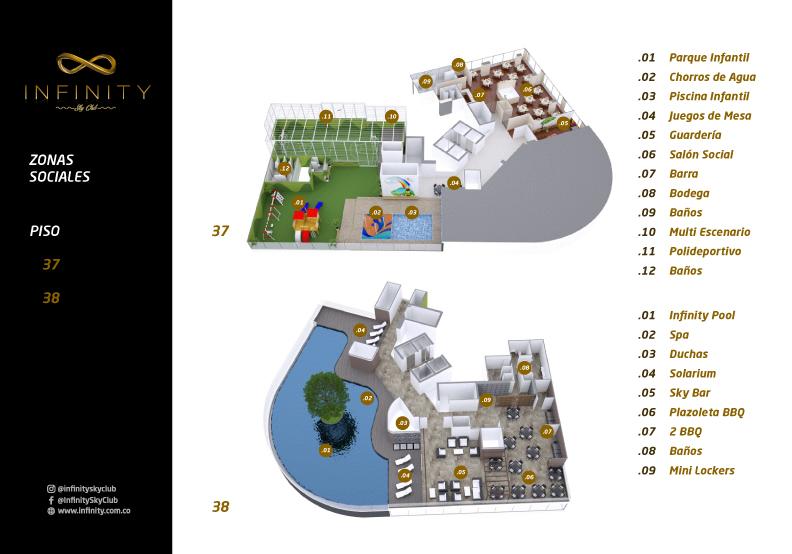 Zonas Sociales Piso 37 y 37